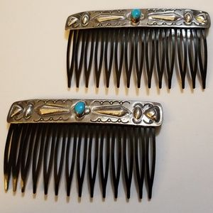 Jewelry - Turquoise & Sterling Silver Hair Combs